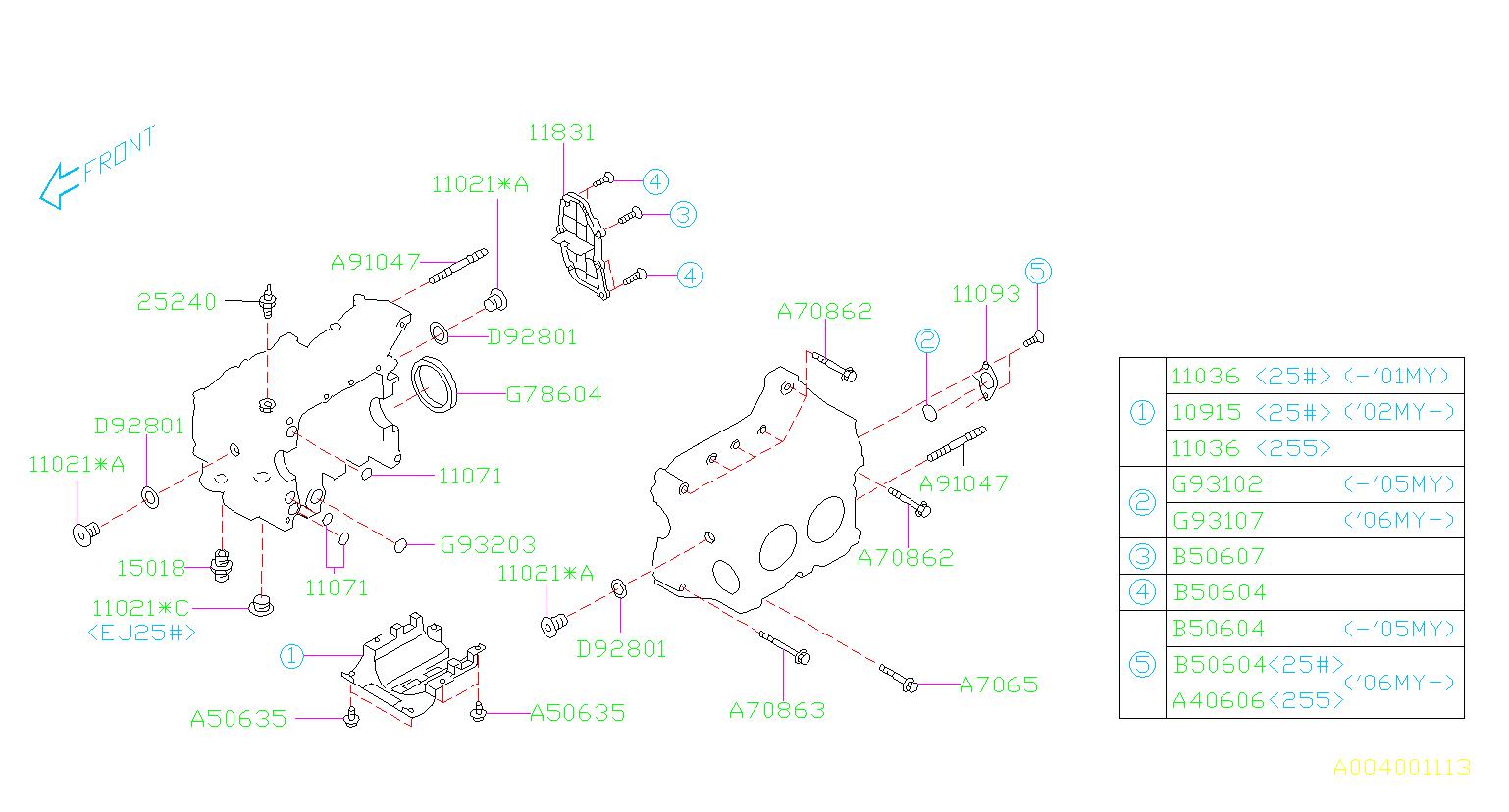 Subaru Legacy GT Wagon Cover Oil Separator. 29 ...